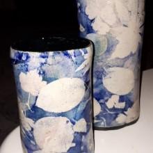 2 vazen blauw